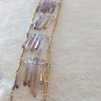 serefina Raw Quarts Ladder Necklace