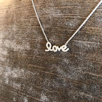 the love  silver necklace
