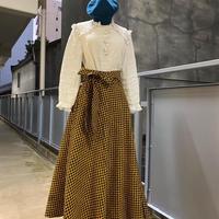 Bouncy Skirt  バウンシースカート ラップスカート  brown scale