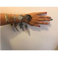 Deepa Gurnani  Hagen bracelet  Gunmetal
