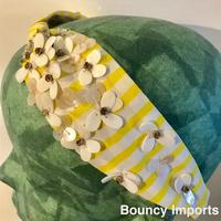 Namrata Joshipura Head Band ヘアアクセサリー   Yellow/white flower