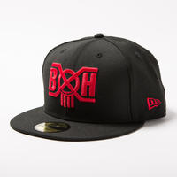 BxH / NEW ERA 59 FIFTY  BLACK/RED
