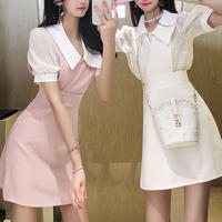 Pearl line suit skirt setup(No.301212)【pink , white , black】