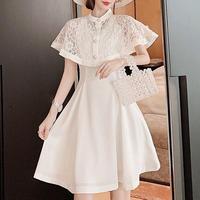 Lady lace cape dress(No.300706)