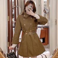 Melton double button mini coat(No.301750)【cream , black , camel】