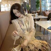 Lady botanical lacy long dress(No.301695)