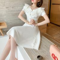 Angel petite frill shoulder dress(No.301444)