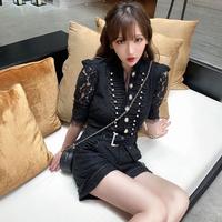Wang-hong black lacy short suit(No.302096)