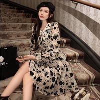 Vintage fleur collar mini dress(No.031004)