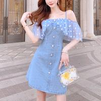 Daisy off shoulder denim dress(No.301203)
