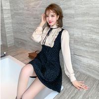 Wang-hong double button tweed dress(No.031019)