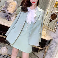 Mint vcut suit dress & blouse set / jacket(No.300792)