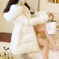 Volume a-line eco-down coat(No.301956)【white , pink】