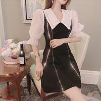 Bijjou line simple lady dress(No.300726)