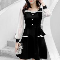Monotone chic frill dress(No.301050)