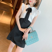 Bijou collar lady monotone dress(No.301466)
