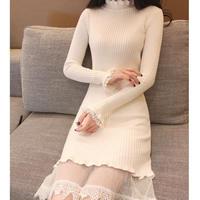 Body line turtle knit dress(No.300903)【2color】