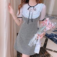 Sweet maid frill check mono dress(No.302316)