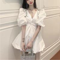 Point ribbon balloon dress(No.301154)