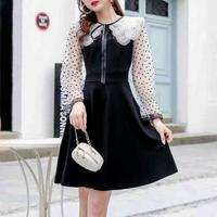 Fairy collar dot sleeve dress(No.300967)