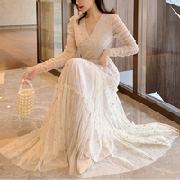 Muse star tulle long dress(No.301570)