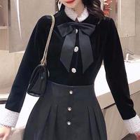 Classical satin ribbon velour jacket(No.300837)