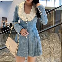 Idol look pearl line tweed dress(No.301742)