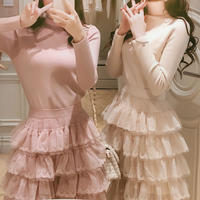 即納♡flamingo skirt & kint tops(No.300520)