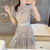 Cutting lady fleur lace dress(No.302345)