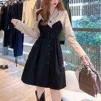 Latte tone mini trench dress(No.301654)