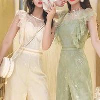 Fairy crochet lace long suit(No.301166)【2color】