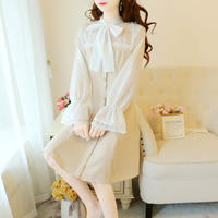 Simple ribbon lady dress(No.301004)【4color】