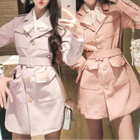 Sweetie spring jacket dress(No.301060)【4color】