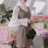 check dress suit  & blouse set(No.300479)