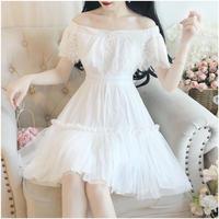 Frola lace off-shoulder dress (No.300661)