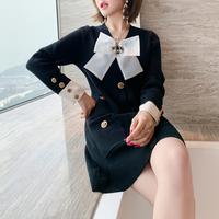 Iconic ribbon mono knit dress(No.301990)