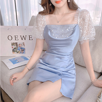 Cinderella like satin cache-coeur dress(No.302296)