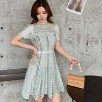 Lady mint lacy dress(No.301090)