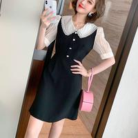 Dolly collar monotone dress(No.301268)