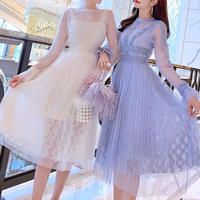 一部即納❤︎Organdy tulle long dress(No.300846)【2color】