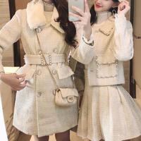 Simple lady tweed setup / coat(No.300893)