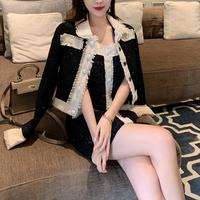 Mono two tone tweed jacket & dress set(No.301682)