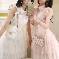Petite tulle frill dress(No.301147)【2color】
