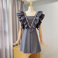 Iconic frill collar mini dress(No.302184)