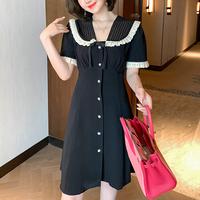 Lady petite ribbon mono dress(No.301399)