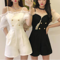 Double button frill shoulder setup(No.301299)【2color】