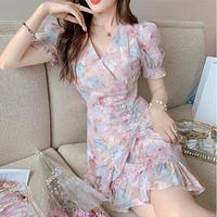 Dreamy flower waist bijou dress(No.302205)