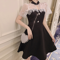 一部即納❤︎Lace cape docking dress(No.300691)