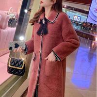 Rosewood fur touch long coat(No.301789)