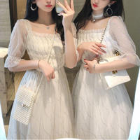 Blink tulle long dress(No.301122)【2color】